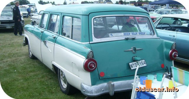 1956 Ford Country Sedan 4d 8p Station Wagon back