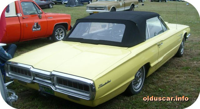 1965 Ford Thunderbird Convertible Coupe back