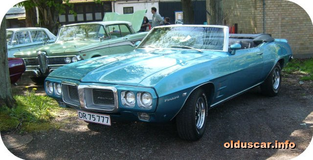 1969 Pontiac Firebird  Convertible Coupe front