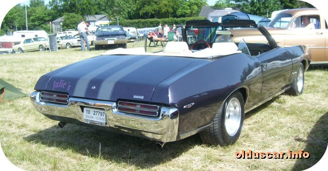 1969 Pontiac Tempest G.T.O. Ram Air Convertible Coupe back