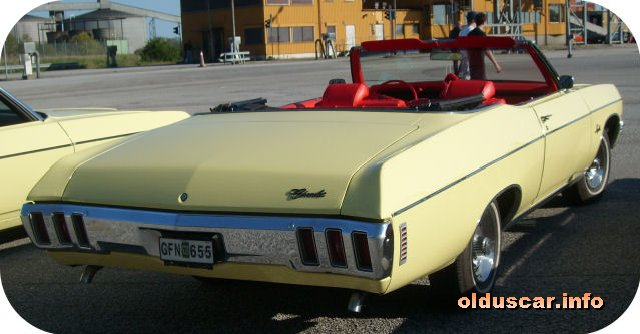 Old us car info 1970 chevrolet impala convertible coupe back sciox Images