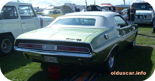 1970 Dodge Challenger RT Convertible Coupe back