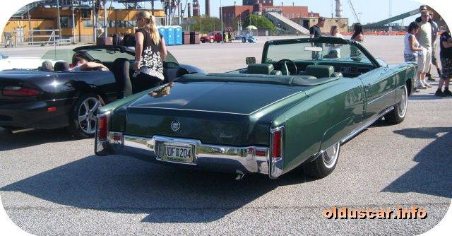 1972 cadillac eldorado convertible coupe back
